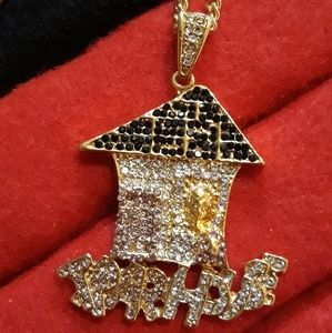 """Other - Tram House Pendant with 30"""" Cuban Link"""